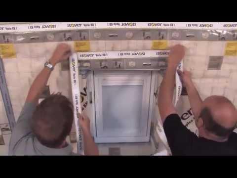 Folienverlegung von innen Teil 5 (Dachflächenfenster) - ISOVER live Sendung