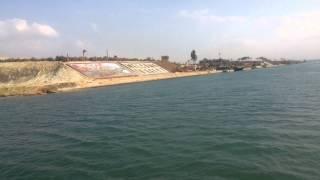 شاهد تدفق المياه بين قناة السويس الجديدة والجالية بقناة الاتصال الكيلو متر  76