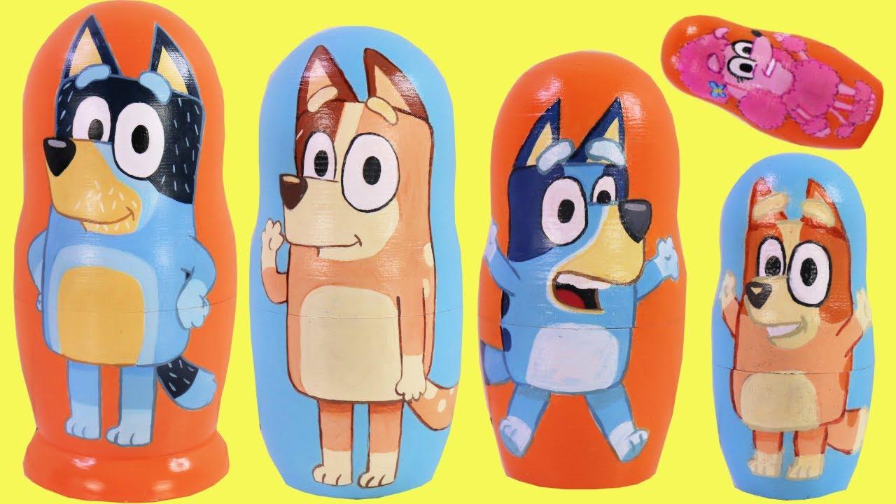 Download BLUEY Nesting Matryoshka Doll with Bingo & Surprises