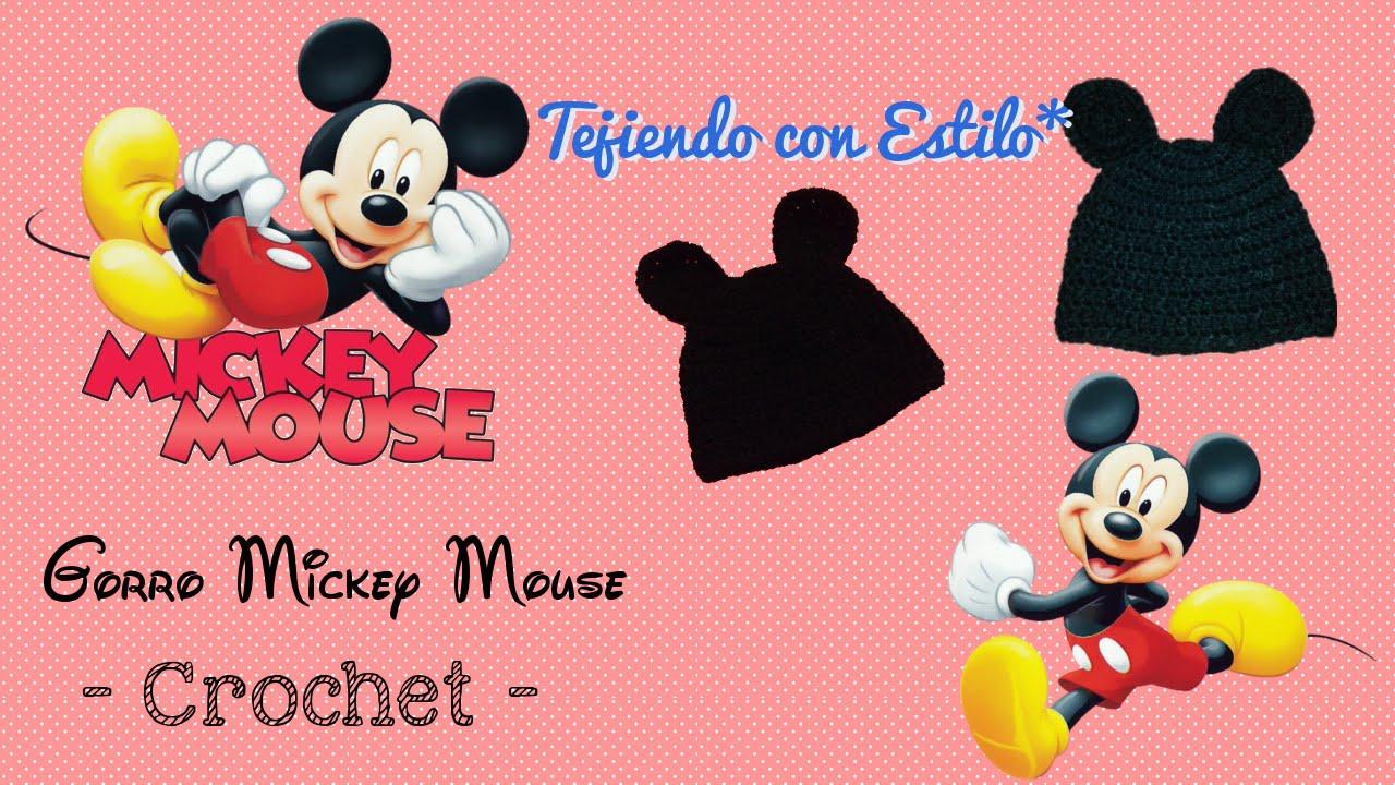 Gorro Mickey Mouse - crochet - YouTube