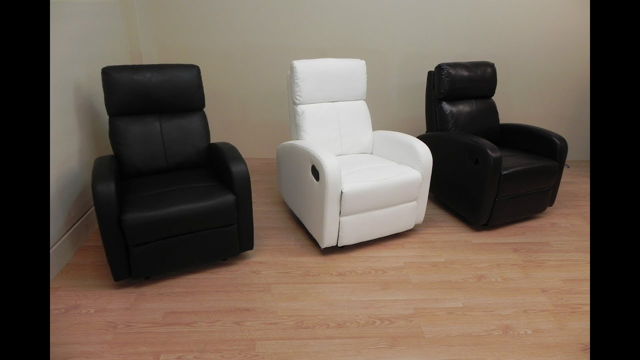 Sill n relax reclinable blanco negro o marron oscuro de for Sillon reclinable