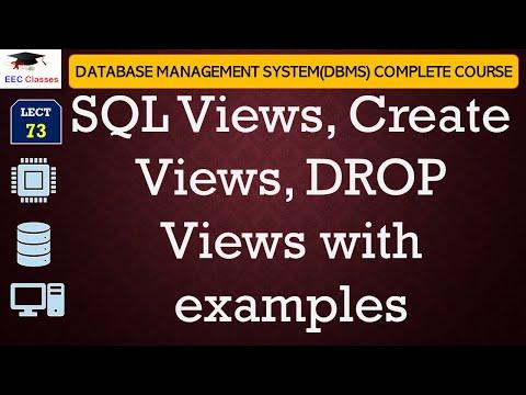 SQL Views, Create Views, DROP Views - SQL Tutorial For Beginners