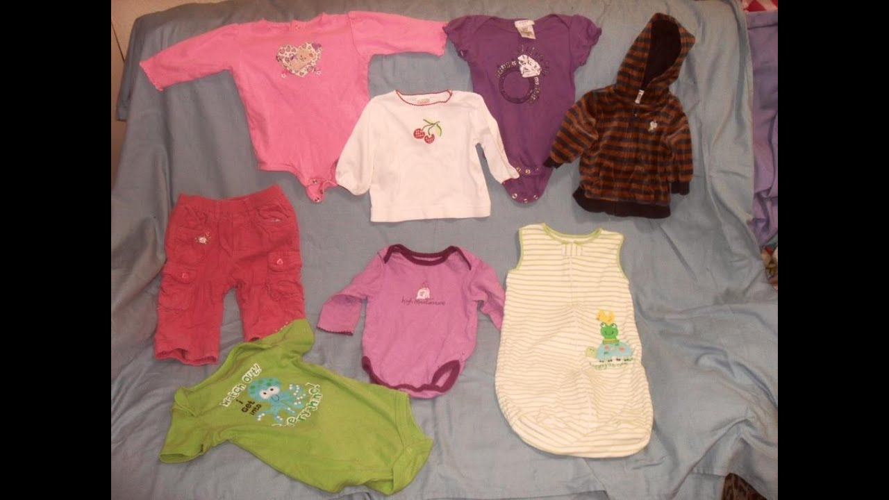 ce8ebb49c5dc LOT OF 8 BABY INFANT GIRLS SIZE 0-9 MONTHS CLOTHES OUTFITS CARTER S ...