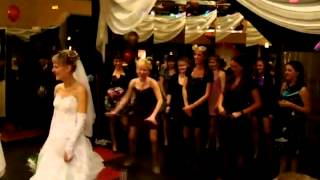 Прикол на свадьбе бросание свадебного букета   YouTube XD