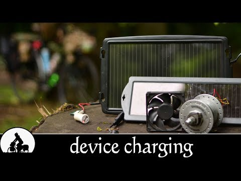 usb charger solar panel & dynamo hub for bicycle touring  - the ultimate touring bike ✔
