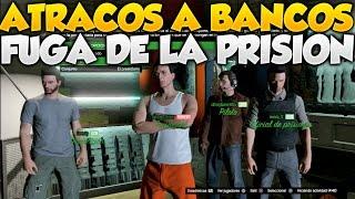 GTA V Online Atracos A Bancos La Fuga de la Prision Gameplay Mision De Atracos GTA 5 Online