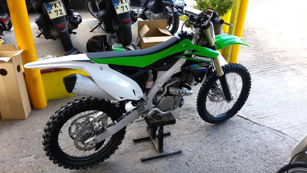 Kawasaki kx 250f 2014 first run - YouTube