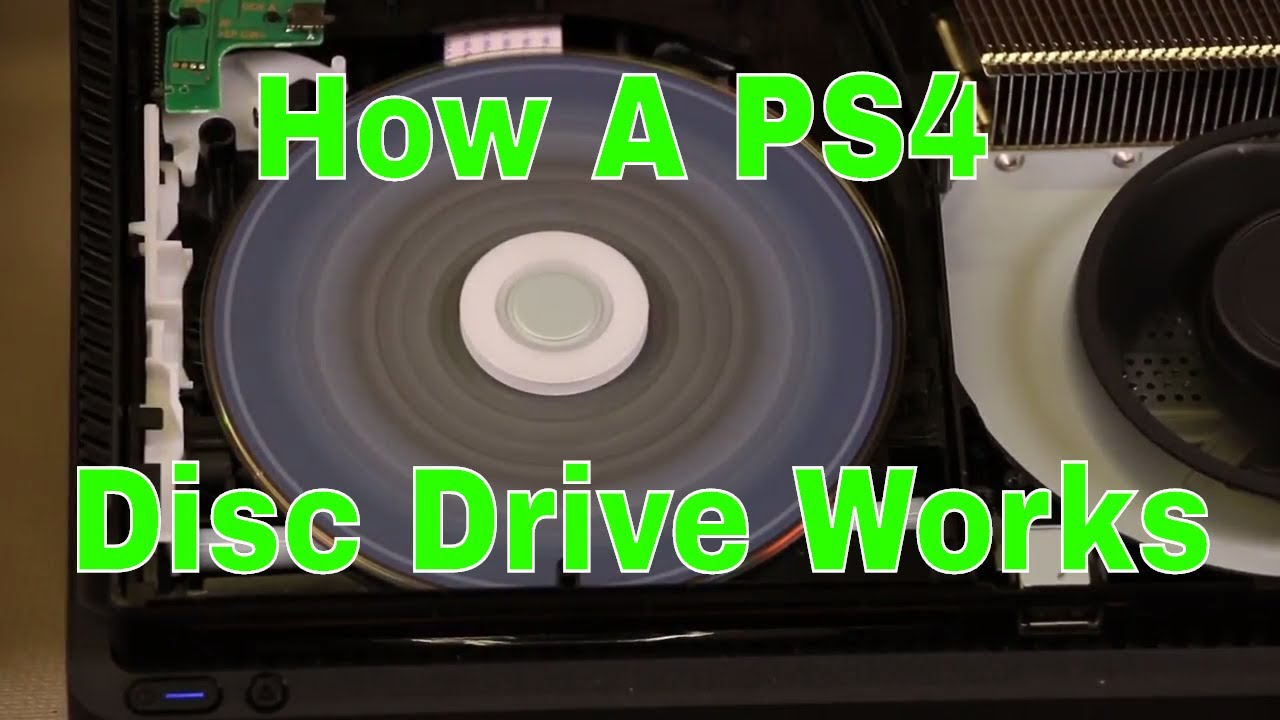 How a PS4 Disc Drive Works - Very Detailed - YouTube