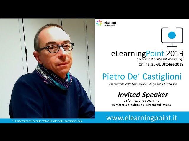 eLearningPoint 2019 - Intervento del Dott. De'Castiglioni