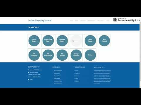 Python, Django And MySQL Project On Online Shopping System