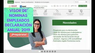 ►|VISOR DE NOMINAS 2020 SAT DECLARACIÓN ANUAL PERSONAS FÍSICAS | EMPLEADOS