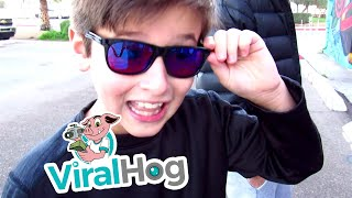 Mom Gives Son the Gift of Color with Enchroma Glasses || ViralHog