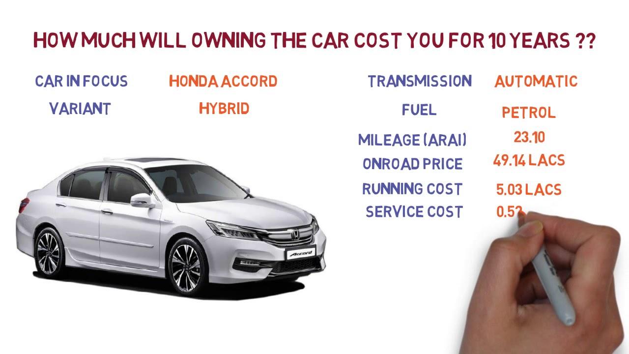 Honda Accord Ownership Cost Price Service Insurance India Car Ysis