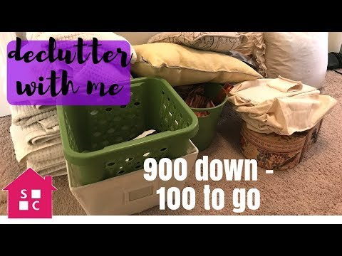 Declutter with Me: 1000 Items Declutter (900 down - 100 to go)