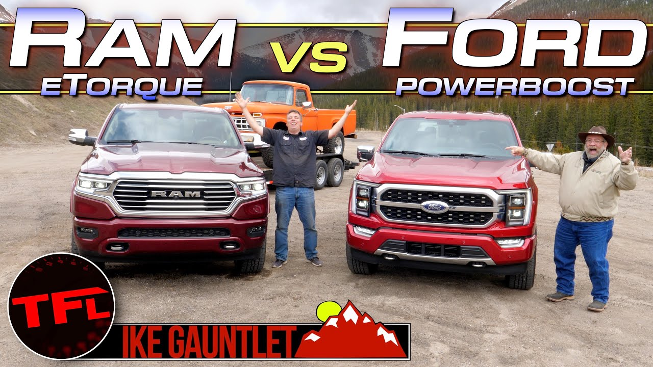 Surprising Ike Gauntlet MPG Winner: Ram 1500 HEMI V8 vs Ford F-150 Hybrid V6 Towing Test Comparison!