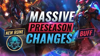 MASSIVE CHANGES: NEW Buḟfs + REWORKS + Runes Coming in Preseason 11 - League of Legends
