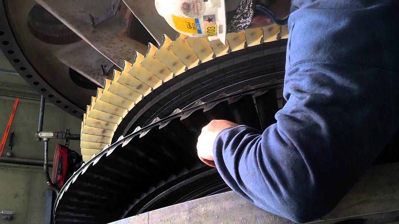 7FA GE Turbine rotation with the turbine case off