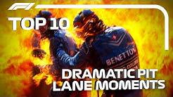 Top 10 Moments of Pit Lane Drama