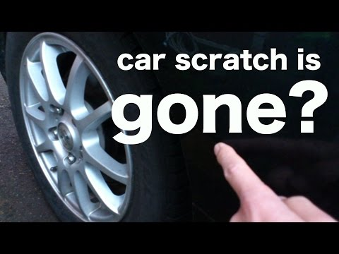 Fix car scratches easily! Japanese goods to car scratch repair