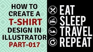 كيفية إنشاء تي شيرت التصاميم في Illustrator CC 2020 التعليمي جزء-17
