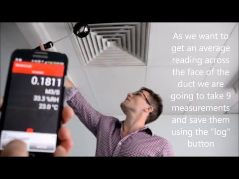 How to measure volumetric airflow from a duct