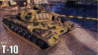 Т-10 затащил бой 🌟 ДЁРГАНЫЙ 🌟 World of Tanks лучший бой ТТ 9 уровня