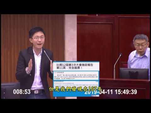 侯漢廷議員質詢柯文哲市長2019/4/11