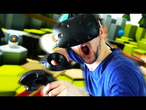 A REAL BOW AND ARROW! | The Lab #1 (HTC Vive Virtual Reality)