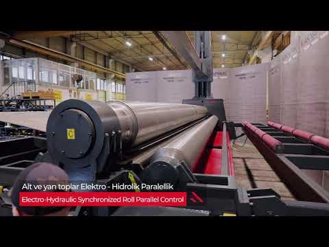 AHS 7100x8/10 /  4 Rolls Hydraulic Plate Bending Machine / 4 Toplu Cnc Silindir Bükme Makinesi