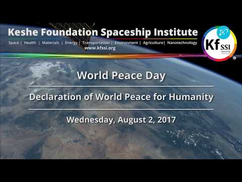 World Peace Day - Declaration of World Peace for Humanity - Wednesday, August 2, 2017