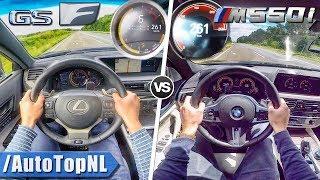 Lexus Gs F Vs Bmw M550i Acceleration Top Speed 0-250km/H Autobahn Pov & Sound By Autotopnl