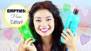 Empties: Hair Edition ♡ Shampoo Conditioner Detangler and MORE ♡ 50VoSummer Thumbnail