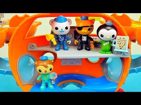 Видео Октонавты и их подводная ОктоБаза - Игрушки капитан Барнаклз, Квази, Пейзо и Шеллингтон