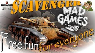 Scavenger Review | Free fun for everyone | WoT Blitz Mad Games [2018]
