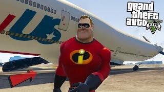 MR INCREDIBLE STOPS PLANE - GTA 5 Mods