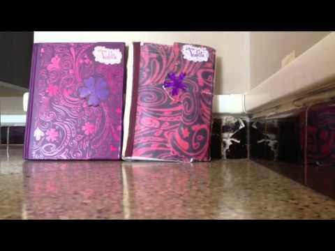 comment fabriqu un journal intime violetta tuto violetta. Black Bedroom Furniture Sets. Home Design Ideas