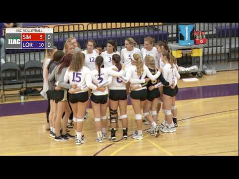 Loras College Duhawks Women's Volleyball vs Simpson Storm 9/30/17
