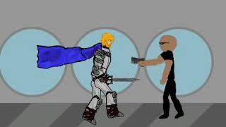 Knight vs Bodyguard. Dövüş çizgi film video. komik video. cm Elif. 2 çizgi çizin.