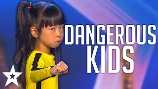 Download CRAZY KIDS | Dangerous STUNT Auditions On America, Spain's Got Talent And MORE! | Got Talent Global Mp3 and Videos