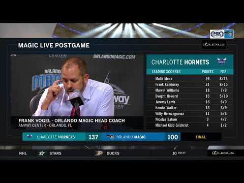 Frank Vogel -- Orlando Magic at Charlotte Hornets 04/06/2018