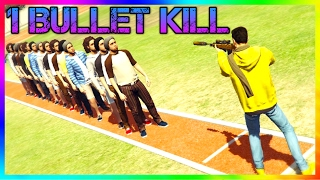 GTA V - How many people can you kill With one Bullet?