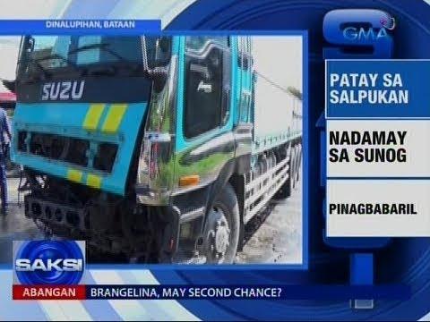 Saksi: Salpukan ng jeep at truck sa Dinalupihan, Bataan, na-huli cam