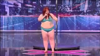اغرب موهبة  للمواهب امرأة سمينة ترقص على بوري للتعري