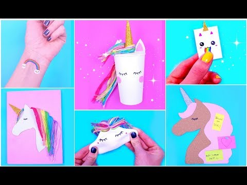 DIY UNICORN School Supplies / Unicorn Crafts | Easy & Cute Hacks