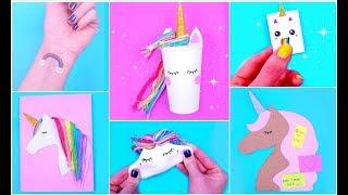 DIY UNICORN SCHOOL SUPPLIES for Back To School / Unicorn Crafts | Easy & Cute Crafts