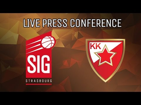 Press Conference SIG Strasbourg vs. CRVENA ZVEZDA BELGRADE