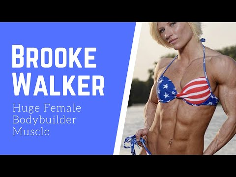 Brooke Walker Huge Female Bodybuilder Muscles Video Compilation