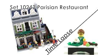 10243 Parisian Restaurant - Lego Modular Building Time Lapse (german/deutsch)