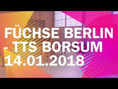 Füchse Berlin vs. TTS Borsum | So. 14.01.2018 | Regionalliga Nord 2017/2018