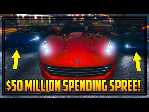 GTA 5 'FINANCE & FELONY' $50,000,000 SPENDING SPREE! BUYING ALL NEW CARS/ITEMS, BEING A CEO & MORE!